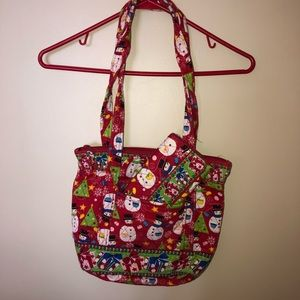 Handbags - Quilted Christmas Purse with Matching Wallet